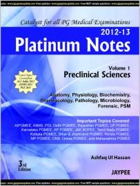 Platinum Notes (Vol.1) Preclinical Sciences